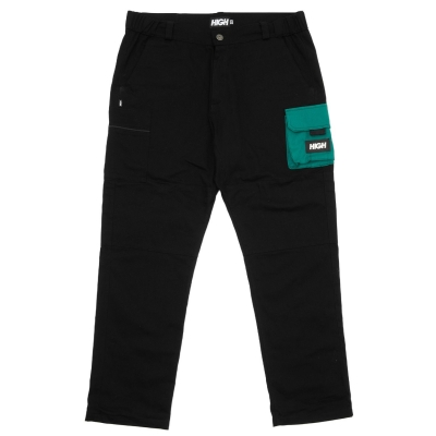 Calça High Color Block Cargo Black/Night Green