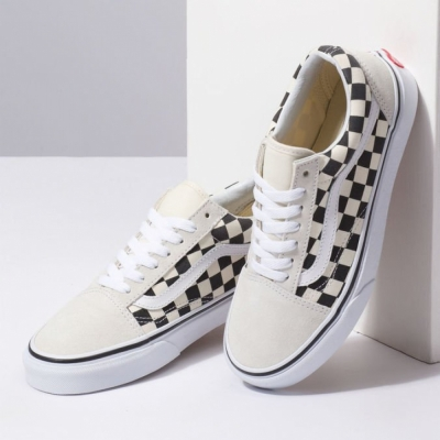 TÊNIS VANS OLD SKOOL CHECKERBOARD WHITE