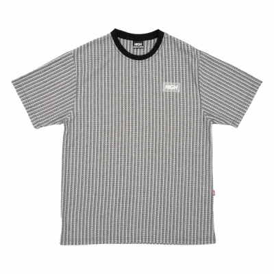 KINITTED TEE BLAOKS GREY