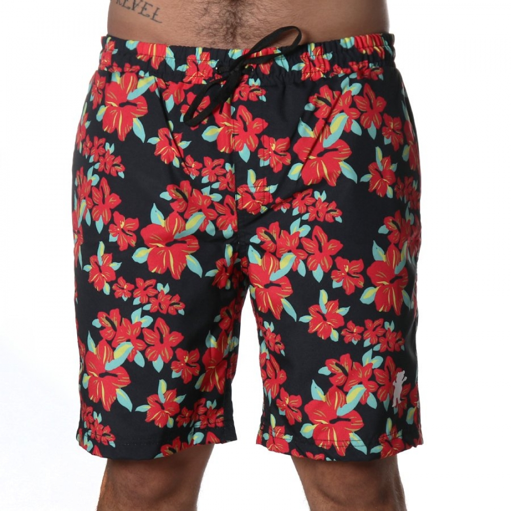 Foto 2 - SHORTS GRIZZLY HIBISCO BLACK