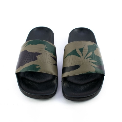 CHINELO SLIDE-ON PEACE LEAF CAMO-BLACK